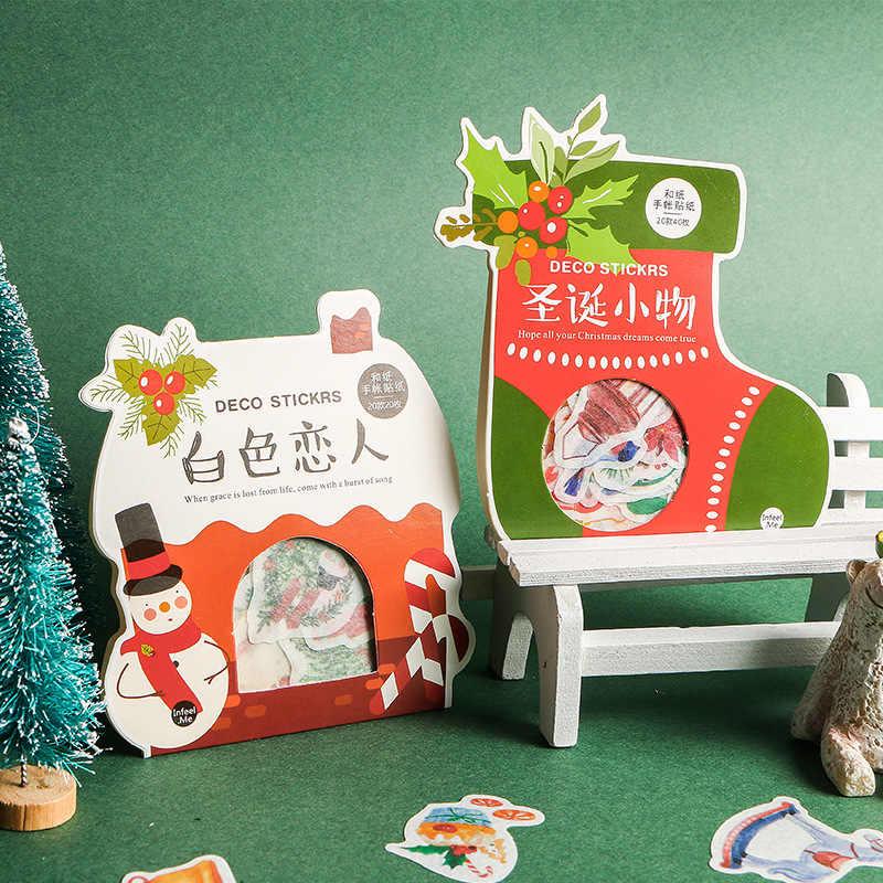 Etiquetas engomadas del regalo de Navidad de aayu pegatinas de la bala del álbum de recortes