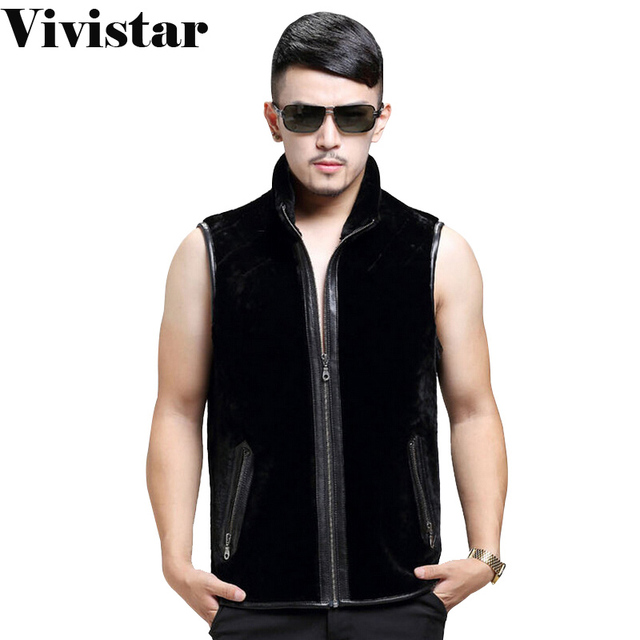 2015 Winter New Arrival Classic Slim Fit Fashion Brand Snow Warm Zipper High Quality Stand Collar Vest for Men F1665