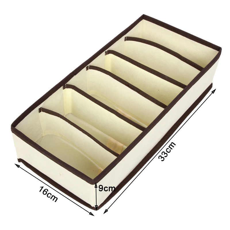 Складное нижнее белье бюстгальтер Органайзер коробка для хранения делитель ящик нетканые шарфы Носки Бюстгальтер Органайзер коробка для хранения галстуков Короткие