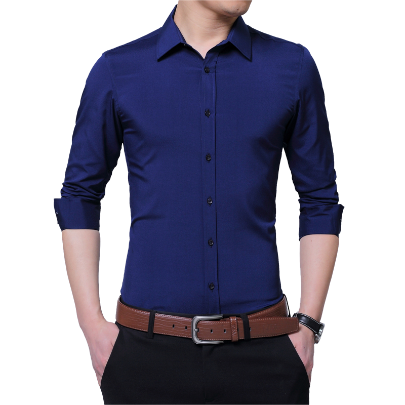 2018 mode Männlichen Hemd Lange-Ärmeln Tops Stickerei Baumwolle Shirt Herren Hawaiian Kleid Shirts Dünnen Männer Shirt LC001
