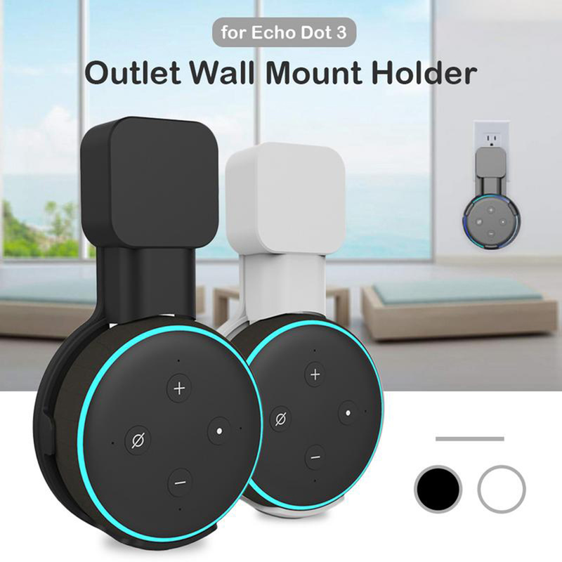 Wall Mount Hanger Holder Bracket For Amazon Alexa Echo Dot Speaker 3rd Generation And Other Round Voice Assistants Outlet Stand