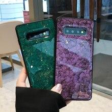 Модные Мрамор телефон чехлы для samsung Galaxy S10e S8 9 10 lite плюс Ретро блеск золота Фольга мягкая задняя крышка для Galaxy Note 8 9