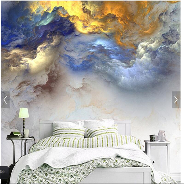 Beibehang 3D Cloud Creative Living Room Study Italy Zen Italian Decorative Wall Wallpaper Custom