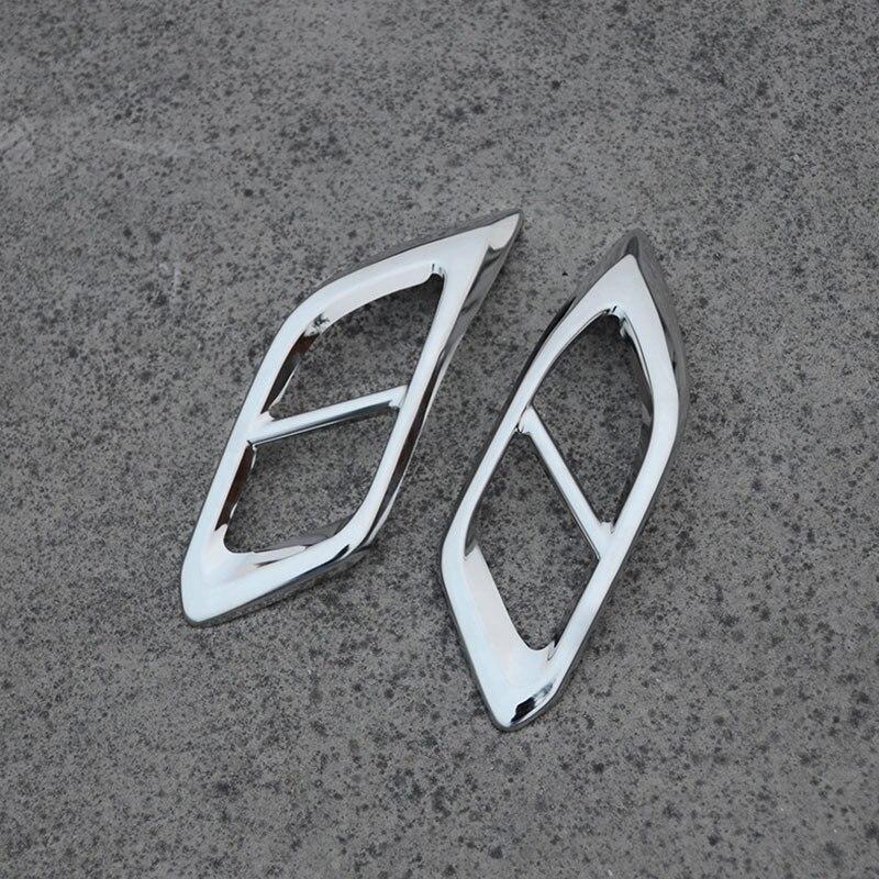 QHCP Arrière D'échappement Décoratif Cadre acier inoxydable Voiture Queue Gorge revêtement d'habillage Arrière Tuyau D'échappement Autocollant Pour LEXUS RX300 200 T