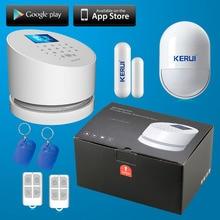 KERUI Wireless sistema de alarma wifi andorid IOS APP Wifi GSM PSTN línea telefónica sistema de alarma de Seguridad RFID wifi con original caja