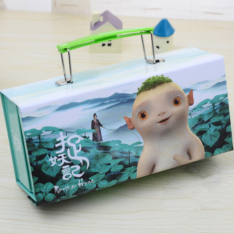 Cute pencil case kawaii Stationery pencil box bag pouch Paper Cartoon Large Pen Case with Lock Handle Girls Kids School Supplies cute cartoon women bag flower animals printing oxford storage bags kawaii lunch bag for girls food bag school lunch box z0
