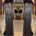 Brillante Vestido de Noche Largo Nuevo Partido Prom Vestidos con Espalda Abierta de Noche con Crystal vestido de noiva Vestido de Noche Por Encargo