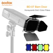 Godox BD-07 drzwi stodoły z odpinanym siatki o strukturze plastra miodu i 4 kolorowe filtry żelowe do Godox AD200 kieszeń lampy błyskowej Speedlite tanie tanio