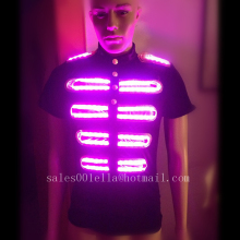 New Design Flashing Luminous Growing Led Light Full Color Costume Party Robot Suit Dancing Wear For Club Party Bar Halloween