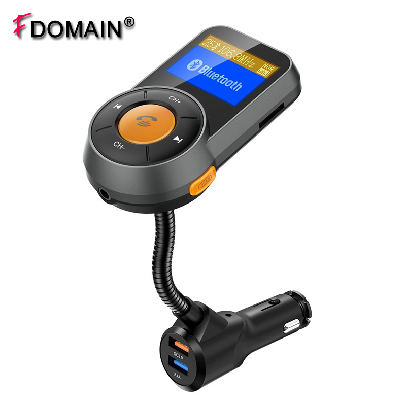 Fdomain Qc3.zero Automotive Charger Bluetooth Handsfree Package Wi-fi Fm Transmitter Tf Card Mp3 Participant With Twin Usb Fast Charging Port()
