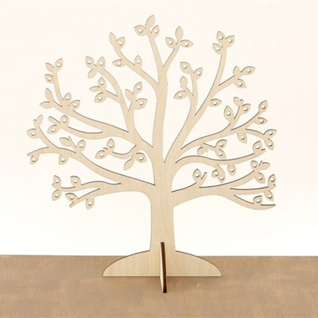Wooden Jewelry Tree Earring Holder Stand Organizer Wood Earning Display Unique Gift For Friend