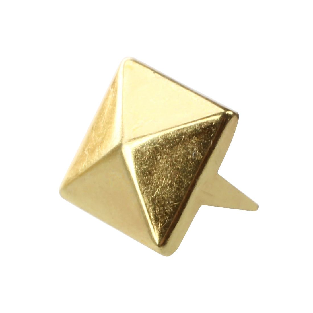 Hot 100 Pyramid Studs Bulk Gold Color Square 10mm Reliable