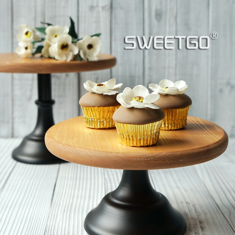 Wood Cake Stands Vintage Wedding Cake Decoration Home Baking Coffee ...