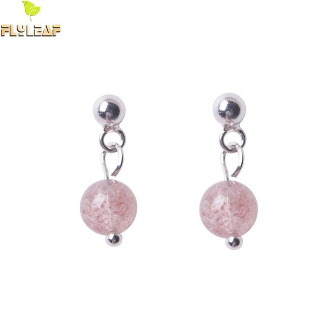 048b9cfe78f00 US $3.07 30% OFF|Flyleaf 100% 925 Sterling Silver Strawberry Crystal Ball  Drop Earrings For Women High Quality Lady Fashion Jewelry-in Drop Earrings  ...