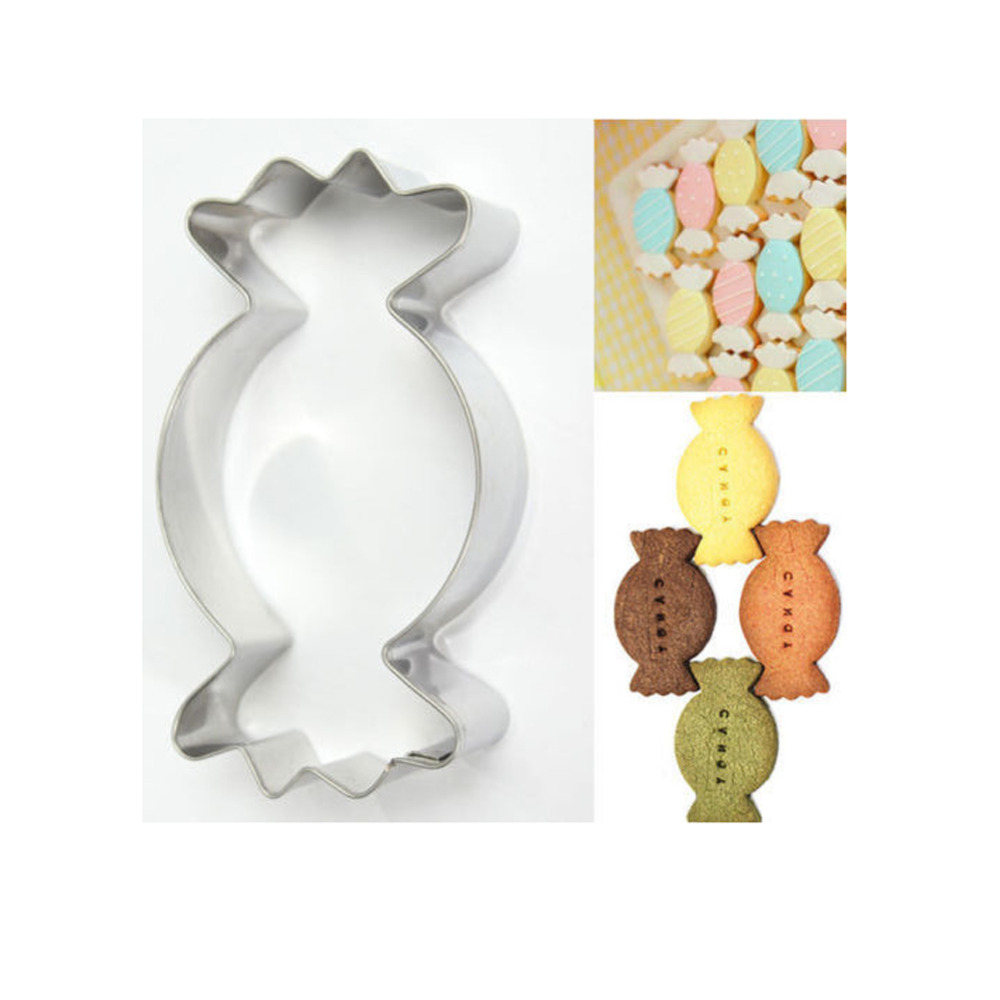 ₩1Pc Stainless Steel Candy Shape Cookie Cutter Biscuit Baking Mold ...