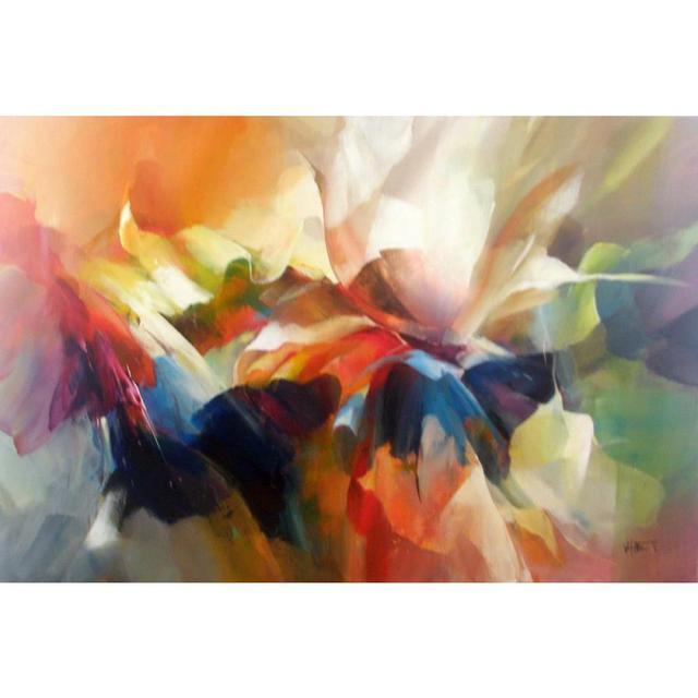 Quadri astratti Fiore espressione Willem Haenraets pittura su tela ...