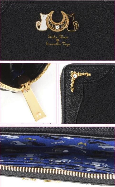 New Sailor Moon 20th Anniversaire Luna Sac Portefeuille Crystal Purse Holder Sac à main