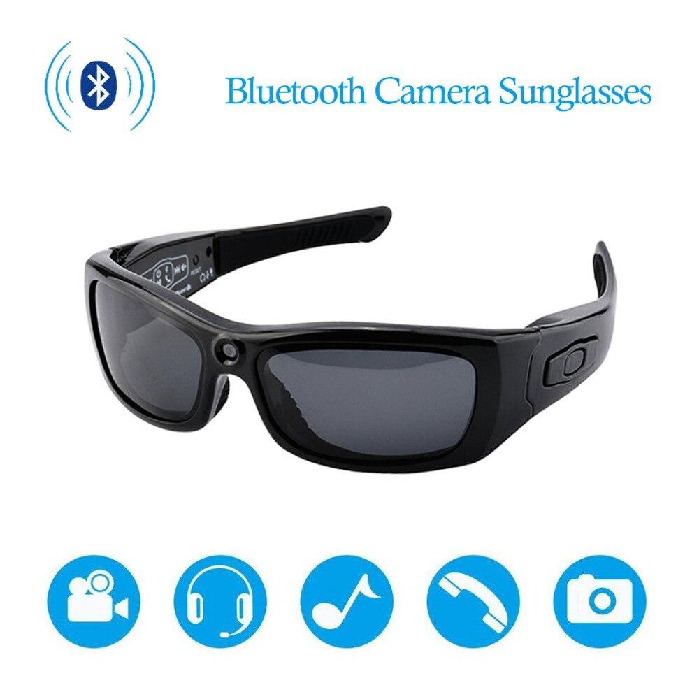 HYUCHON Bluetooth Óculos De Sol Mini Câmera, cam Gravador De Vídeo Full HD 1080 P Esportes Óculos Polarizados para Cyling/esqui/Parachut