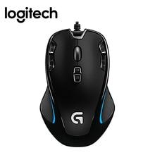 Logitech G300s игровая мышь 2500 dpi USB проводной оптический датчик обе руки мышь с 7 Цветной подсветкой для игровая мышь Gamer мышь