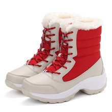 White winter boots women fashion snow boots new style women's shoes Brand