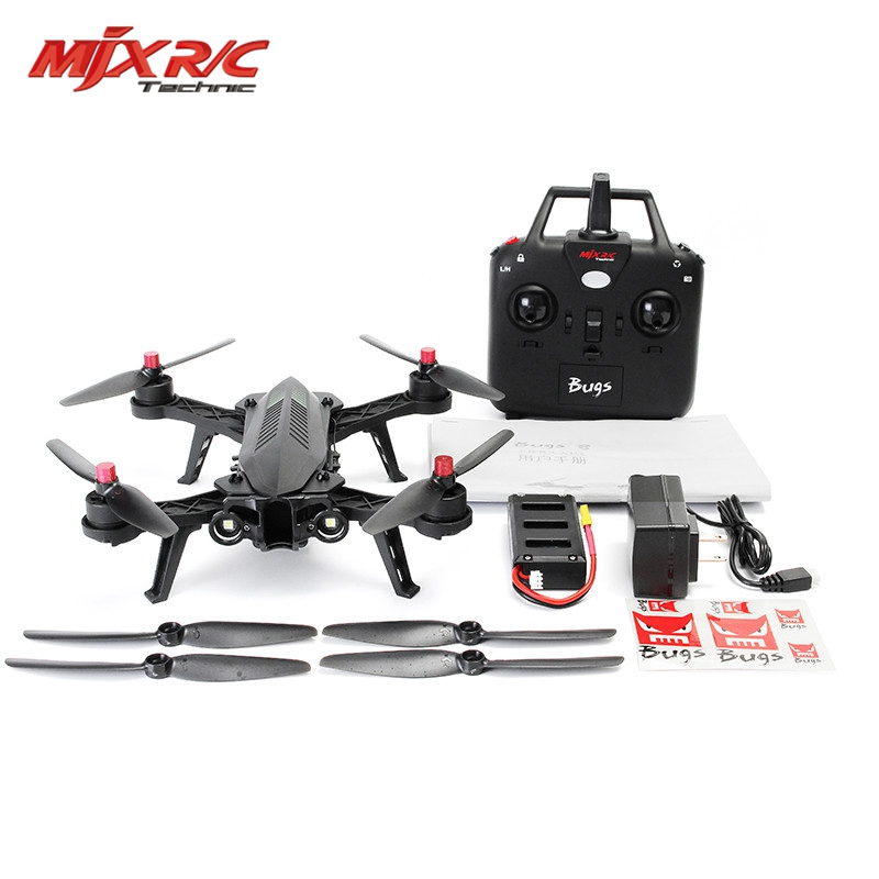 In Stock MJX Bugs 6 Brushless Motor C5830 Camera 3D Roll Flip Racing 2.4G 4CH FPV Quadcopter RC Camera Drone Toy RTF VS Bugs 3 8 mjx bugs 6