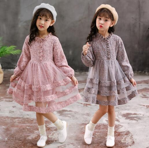 Girls dresses 2019 autumn kids girls long sleeve princess dress for birthday party wear children clothing winter teenager dress 2