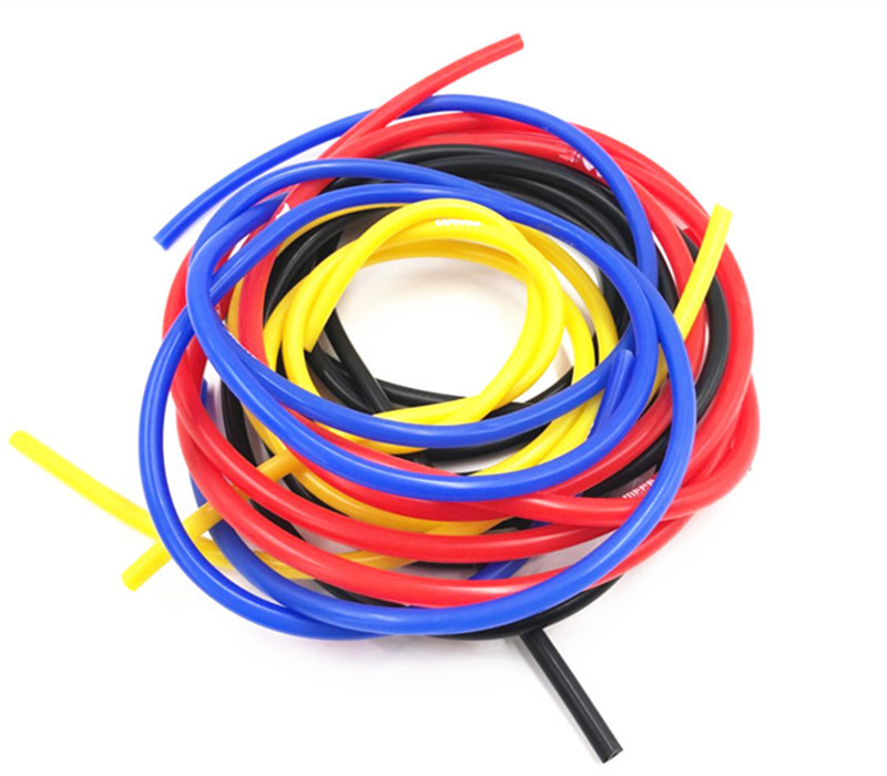 FIFAN Universal 1M 3mm/4mm/6mm/8mm Silicone Vacuum Tube Hose Silicon Tubing Blue Black Red Yellow Car Accessories For Honda BMW image