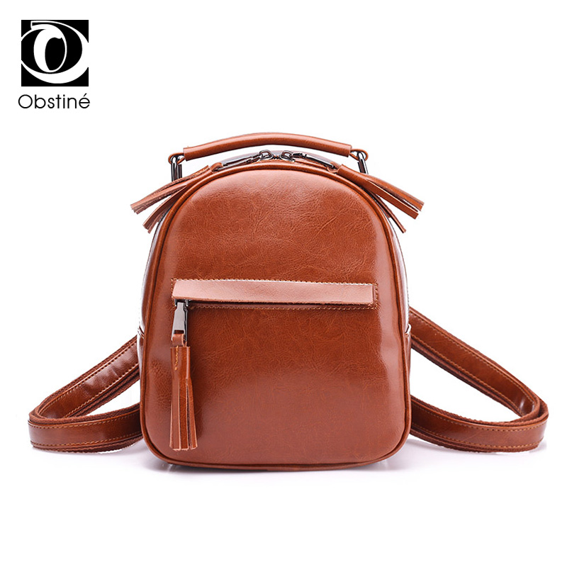 Small Genuine Leather Women Backpack Cowhide Womens Real Leather Backpacks Shoulder Bags for Girls Preppy Style Female Bagpack cardamom fashion leather backpack women bags cowhide leather bagpack with colorful patchwork backpacks for women