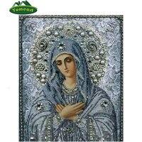 Beauty Life 5D DIY Diamond Embroidery Religion Icon Rhinestones Full Square Resin Diamond Mosaic Cross Stitch