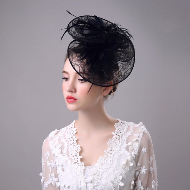 2017 Vintage Branco/Preto Chapéus De Casamento Chapéu De Noiva Birdcage Veil Acessórios Do Casamento Acessório Do Cabelo