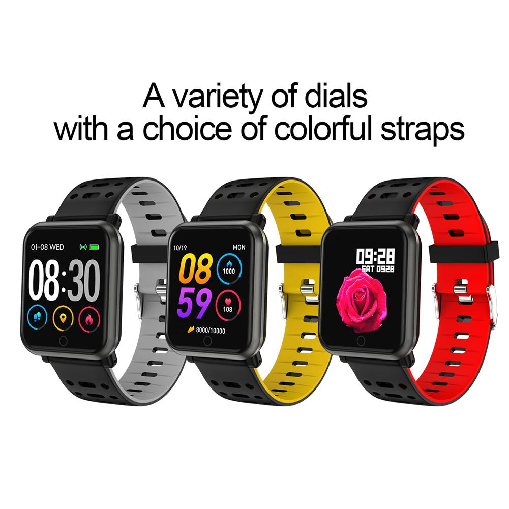 Color Screen Smart Bracelet Tracker Heart Rate Blood Pressure Blood Oxygen Step Sleep Detection Call Message Bluetooth Wristband-in Smart Wristbands from Consumer Electronics