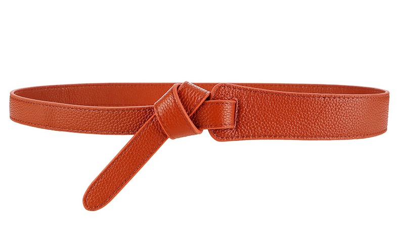 HTB1licWc6bguuRkHFrdq6z.LFXaV - Luxury Female Belt for Women red Bow design Thin PU Leather Jeans Girdles Loop strap belts bownot brown dress coat accessories