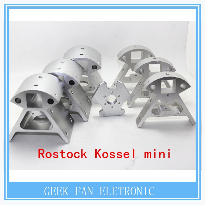 1 Set of All Metal Mounting Frame for 3D Printer Rostock Kossel mini K800 Includes 7 Pieces Aluminium Alloy Corner Fittings