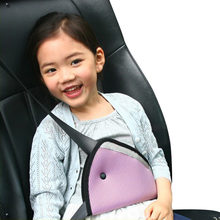 Adjustable Car Baby Safety Fit Seat Belt Adjuster Safety Belt Adjust Device Kids Protecter Belt Cover Shoulder Harness Strap(China)