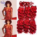 Short Weave Hair With Closure Brazilian Deep Curly Hair With Top Closure Red Brazilian Deep Wave Burgundy 8 '' Short Human Hair
