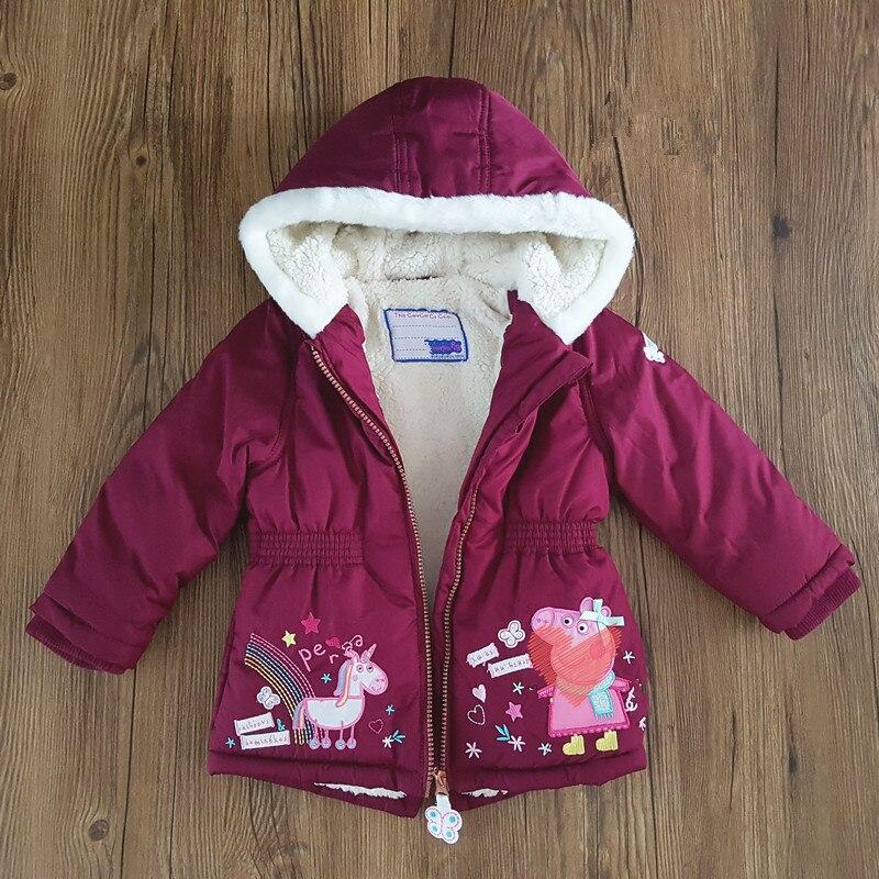 Girls hooded and velvet warm jacketGirls hooded and velvet warm jacket