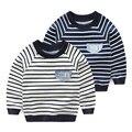 2017 Primavera Outono Novo Listrado Pullover Camisola Para O Menino Crianças Longo T-Shirt de manga comprida 2 T 3 T 4 T 5 6 7 Anos de Idade Da Criança roupas
