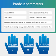 100 PCS Transparent Disposable PVC Gloves Dishwashing/Kitchen/Medical /Latex/Rubber/Garden Gloves Universal For Home Cleaning