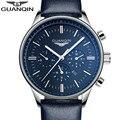 Relógios homens 2017 top de luxo da marca guanqin nova moda masculina big dial designer relógio de quartzo masculino relógio de pulso relogio masculino