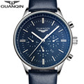 Watches Men 2017 Luxury Top Brand GUANQIN New Fashion Men's Big Dial Designer Quartz Watch Male Wristwatch relogio masculino