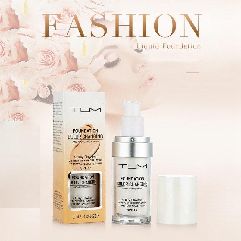 30 ml Farbwechsel Flüssige Foundation Make-Up Ändern, Um Ihre Haut Ton Durch Nur Blending