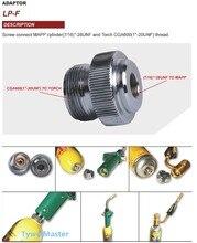 "Adaptor CGA600 to 7/16"" 28UNF for Braze Welding Torch MAPP Propane Gas Torch Heating Solder Burner adaptor Catridge"