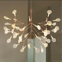 Creative Art Designer LED Chandelier Luxury Tree Leaf Modern Pendant Lamps Deco Chandeliers For Dining Living