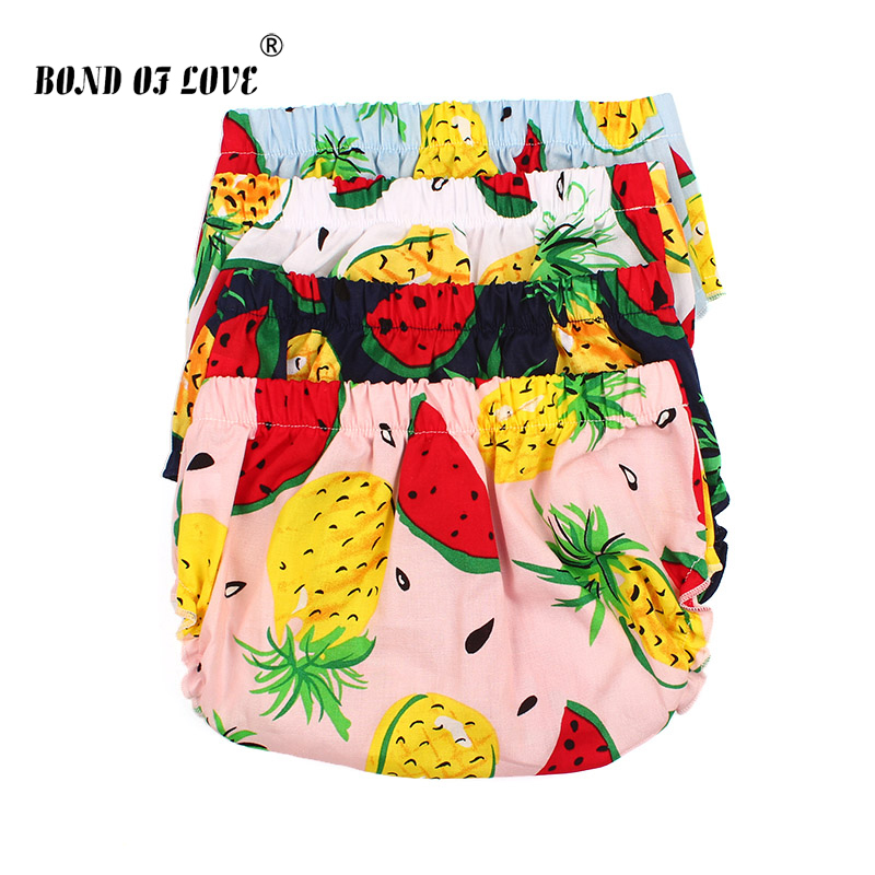 Newborn Shorts Infant Baby Bloomers Panties Baby Girls Cute Diaper Infant Toddle Bloomers PP Fruit Pattern Fashion Shorts