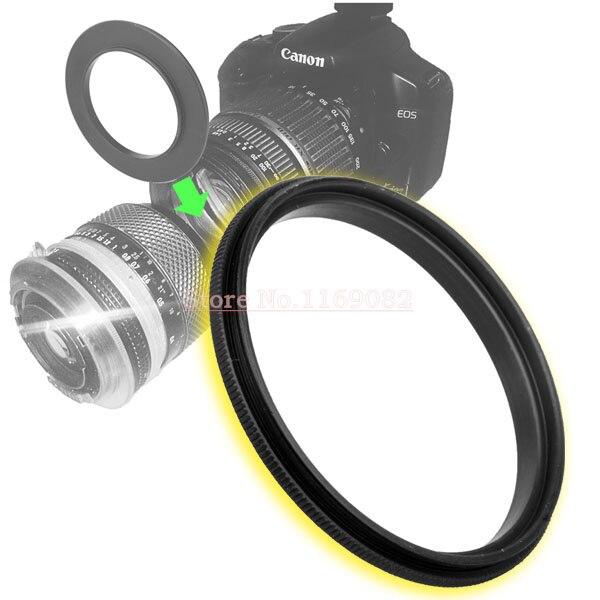 2 шт. кольцо для объектива 58 мм-58 мм 58-58 мм Макро обратное кольцо для 58-58 мм крепление для объектива для удлинительных трубок адаптеры