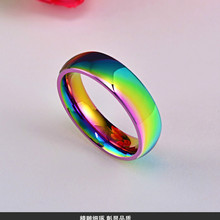 Fashion Jewelry One-Ring Stainless-Steel Rainbow-Color Wholesale Women 1pcs Power-The-Lord