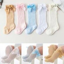 Нескользящие носки для маленьких девочек кружевные носки принцессы до колена длинные сапоги-трубы Нескользящие кружевные Гольфы принцессы