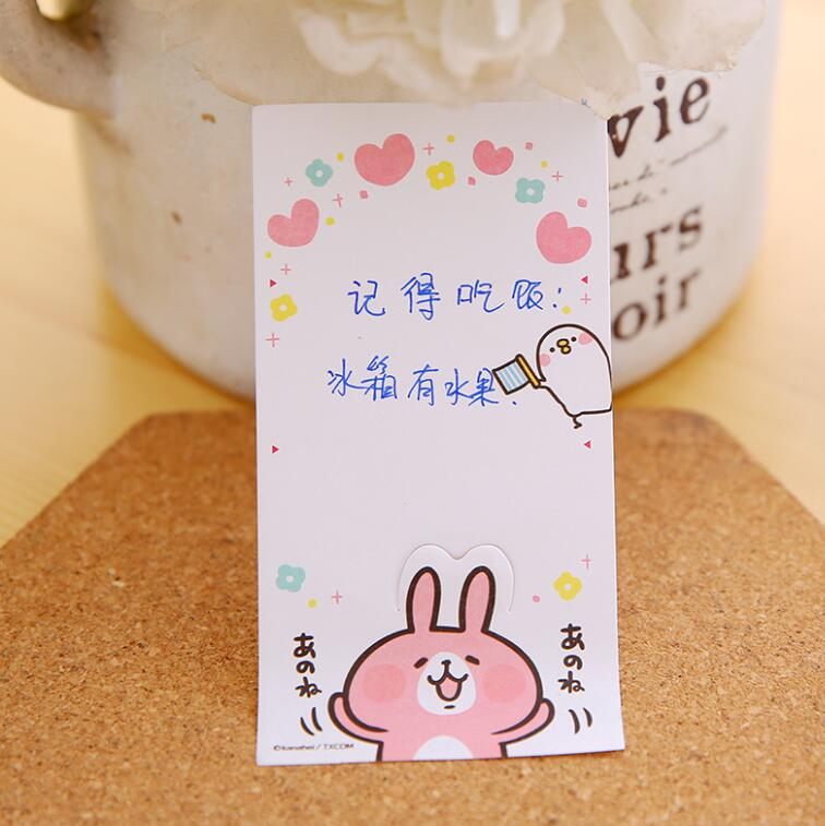 Small Animals Rabbits Desserts Sticky Notes N Times Posts Memo Pad For Kids Gift Note DD2797