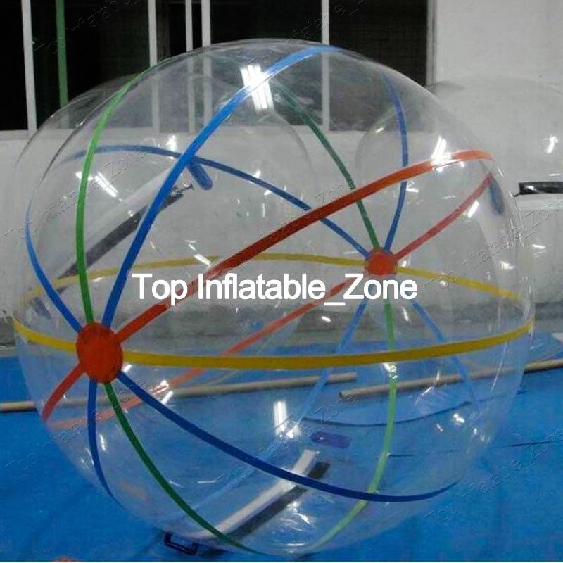 Plaisir en plein air et jouet sport balle balle anti-stress 1.0mm PVC/TPU Boule de Zorb de L'eau//Gonflable Marche de L'eau Boule 2 M Diamètre Livraison Gratuite
