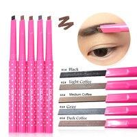 1 x Waterproof Longlasting Eyebrow Pencil Eye Brow Liner Powder Shapper Makeup Tool maquiagens 5 Different Colors Makeup